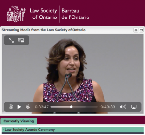 The Law Society of Ontario view clip
